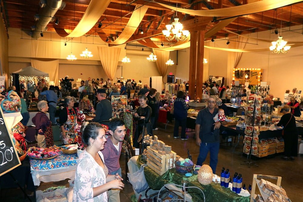 Attendees shop for New Mexico-made products available for sale at HomeGrown – A New Mexico Food Show and Gift Market in 2016. This year, HomeGrown will take place on Saturday, Nov. 17 from 9 a.m. to 5 p.m. and Sunday, Nov. 18 from 10 a.m. to 4 p.m. at the New Mexico Farm & Ranch Heritage Museum.