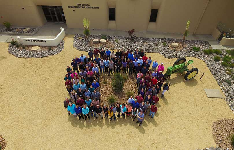 NMDA Staff photographed from drone