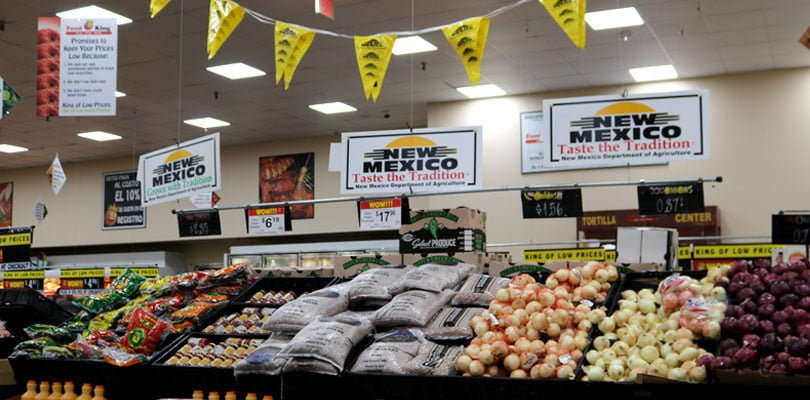 Taste the Tradition brand New Mexico produce is shown on shelves of local grocery stores