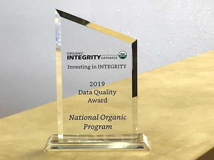 Organic Program Integrity Award