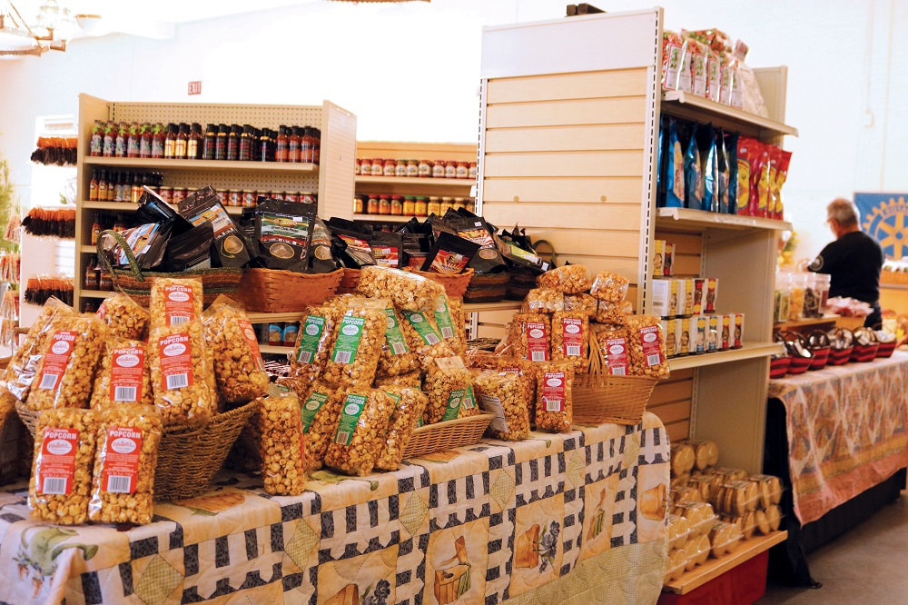 Hosted by the New Mexico Department of Agriculture and Rio Rancho Rotary Club, the New Mexico Taste the Tradition Country Store at the New Mexico State Fair carries a wide selection of products made or grown in the state.