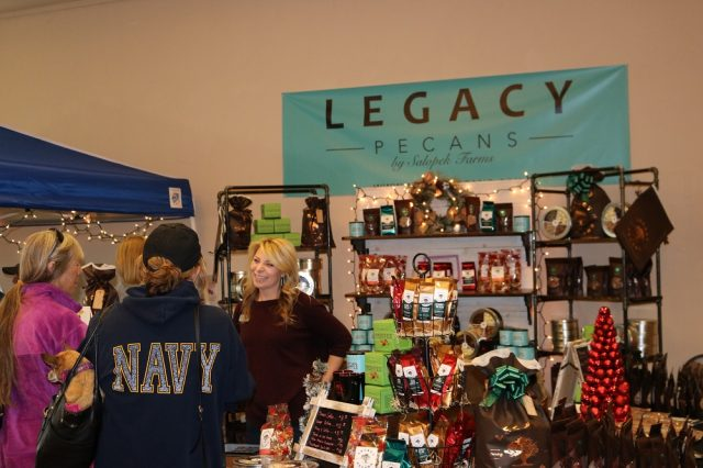 Heather Salopek, owner of Legacy Pecans and long-time HomeGrown vendor, will be one of over 60 vendors attending this year's food show and craft market. The company will again be selling its signature buttery pecan brittle as well as a few new items, including pecan syrup which, Salopek said, pairs well with its pecan coffee.