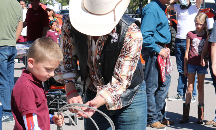 The agriculture community comes together each fall to celebrate Ag Day, a family-friendly tailgate event held prior to a New Mexico State University football game.