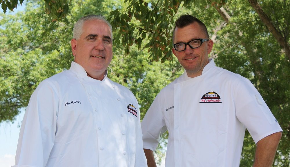 John Hartley (left) and Rocky Durham (right) have been selected as the Chef Ambassadors for the first-ever NEW MEXICO—Taste the Tradition® (NM-TTT) Chef Ambassador Program. The New Mexico Department of Agriculture selected the chef ambassadors after a competitive application and interview process. (Photo courtesy NMDA)