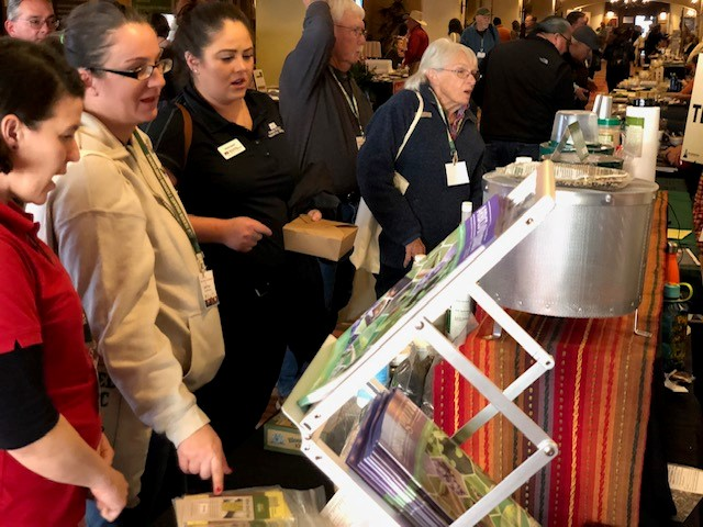 Cutline: Nearly 60 exhibitor booths offered locally grown organic snacks at the 2019 New Mexico Organic Farming Conference. This year's conference is Friday, Feb. 21 and Saturday, Feb. 22 at Hotel Albuquerque at Old Town, located at 800 Rio Grande Blvd. Northwest in Albuquerque.