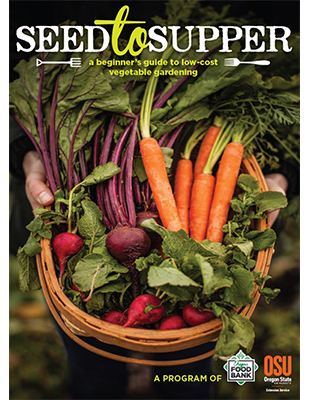 Magazine cover featuring vegetables in a basket.