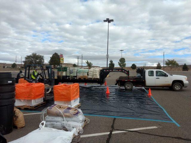 truck loading up pesticides